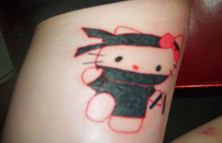 Ninja Kitty tattoo