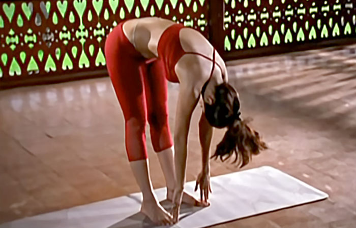 Padahastasana For A Flat Tummy