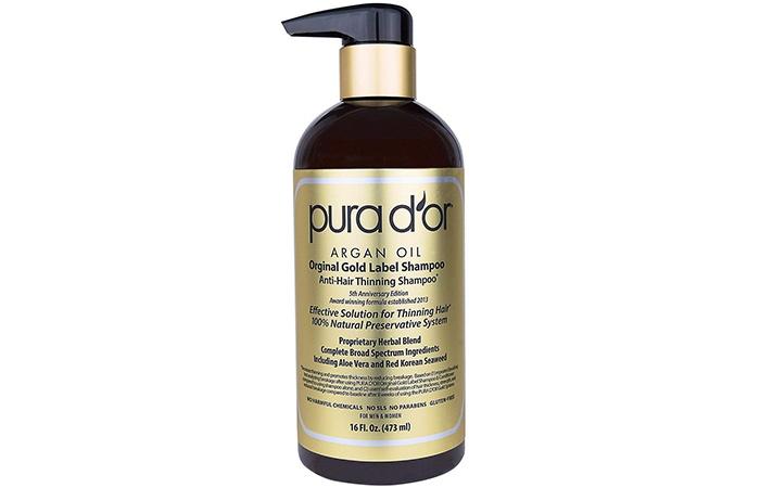 Pura D Or Argan Oil Original Gold Label Anti Hair Thinning Shampoo