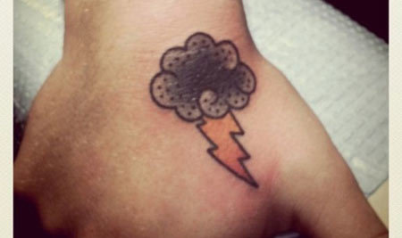 Rain Filled Heavy Cloud Tattoo