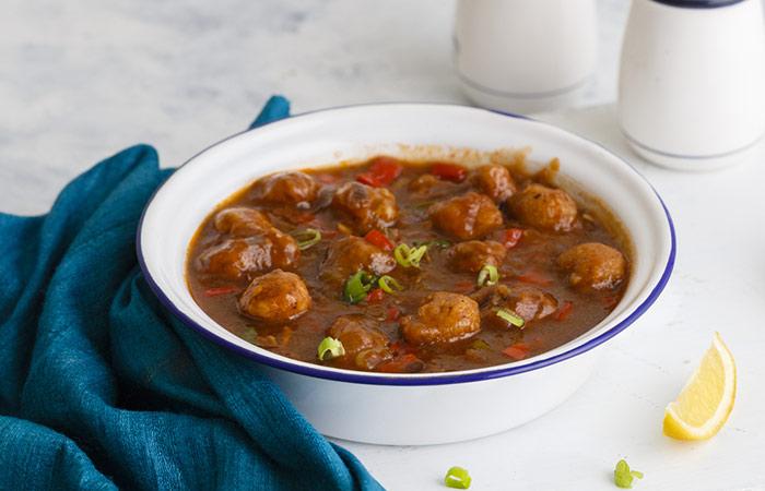 Recipe - Oatmeal Balls In Asian-Style Gravy