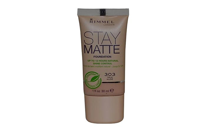 7. Rimmel London Stay Matte Foundation (Natural Beige) - Best Natural Foundation