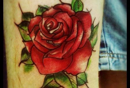 Romantic rose tattoo