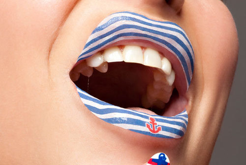 Sailor Theme Temporary Lip Tattoo