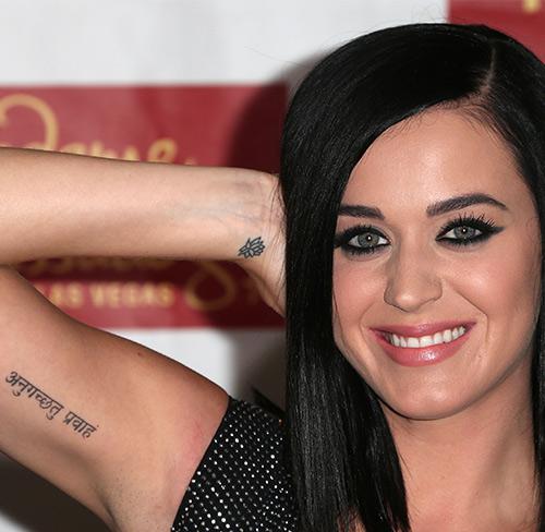 Sanskrit Tattoo On Her Arm