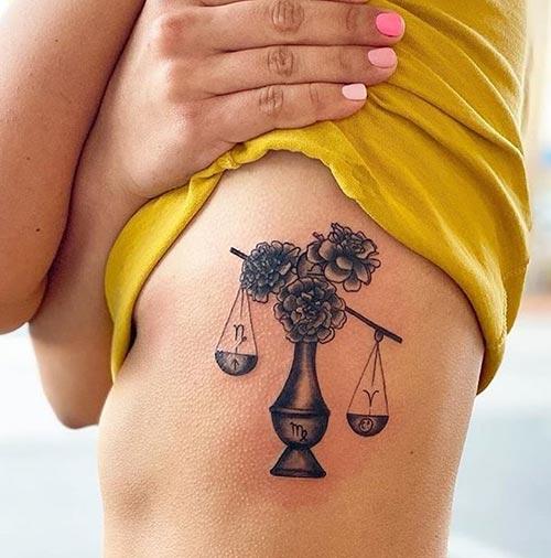 Side Rib Libra Tattoo