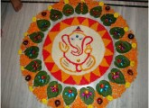 Simple Ganesha Rangoli