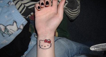 Simple Kitty tattoo