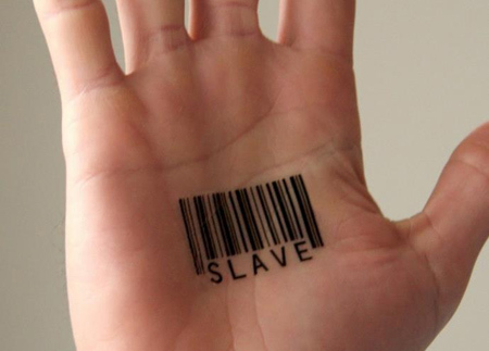 Slave Barcode Tattoo Design