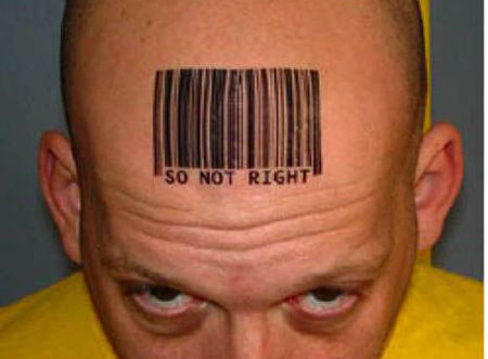 So Not Right Barcode Design Tattoo
