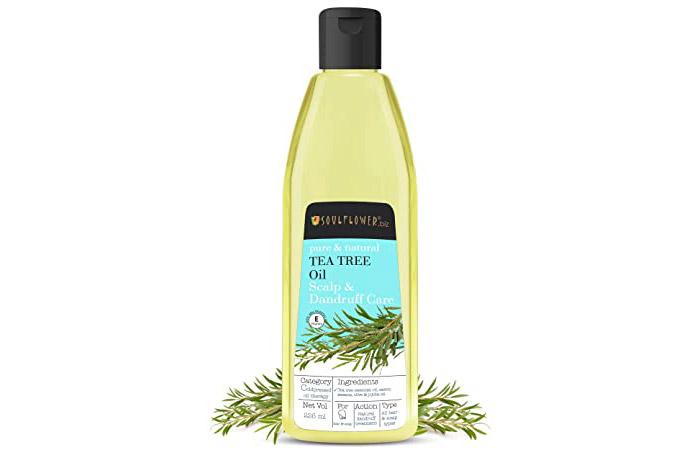 Soulflower Tea Tree Oil For Scalp & Dandruff Care