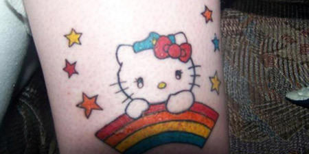 Stars and Kitty Tattoo