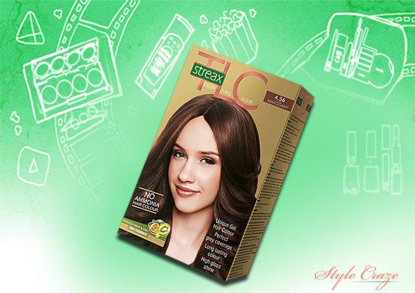 streax mahogany brown 4.56 hair colour