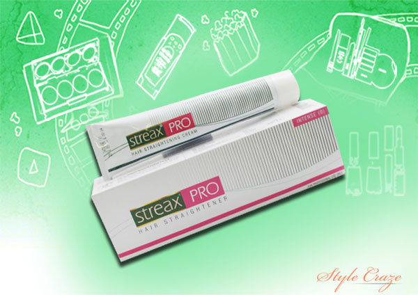 streax pro hair straightener intense cream