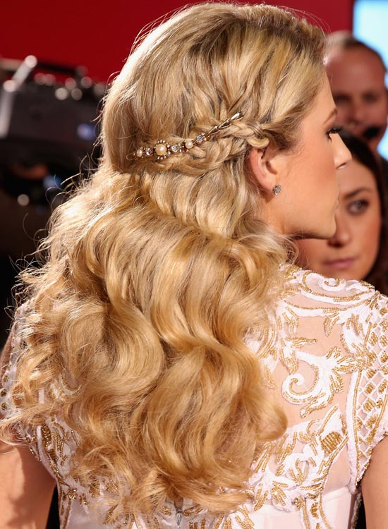 Textured Rippling Waves with Embellished Side Braid