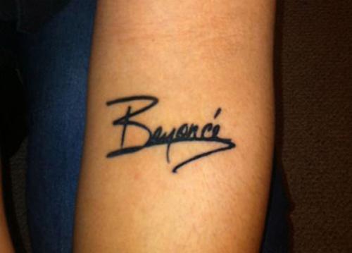 the signature as a tattoo