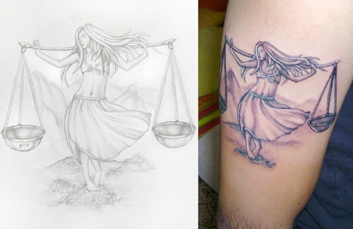 the virgin libra tattoo