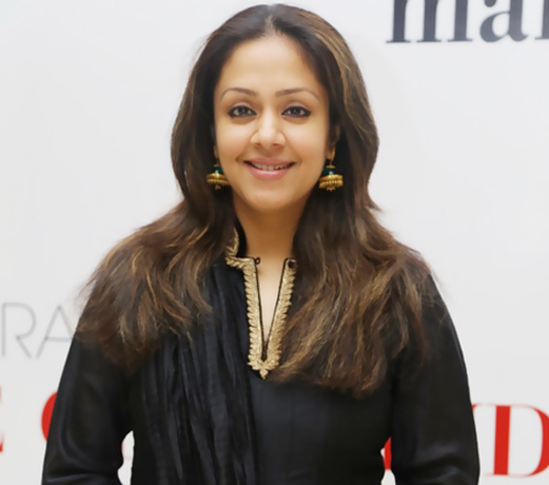 Jyothika Without Makeup in Black Salwar Kurta