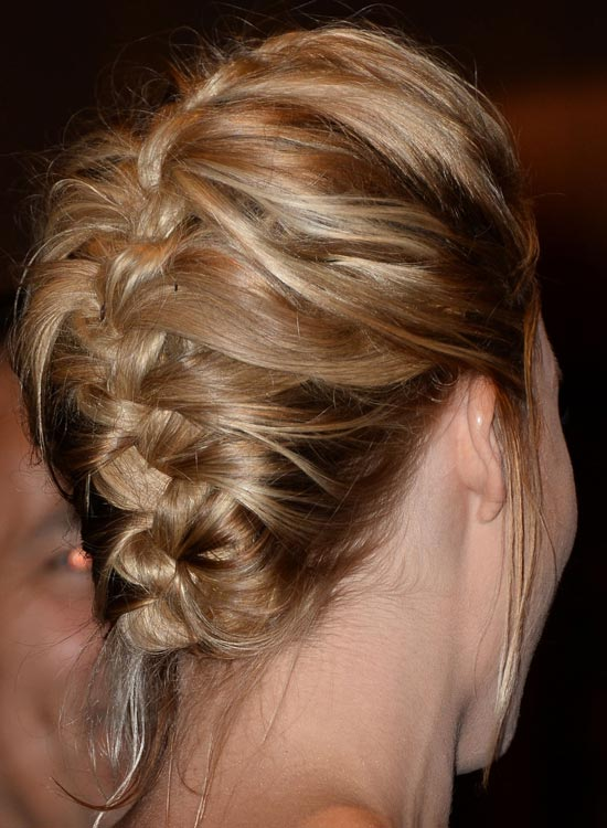 Upside Down French Braid with Puffy Crown and Loose Strands