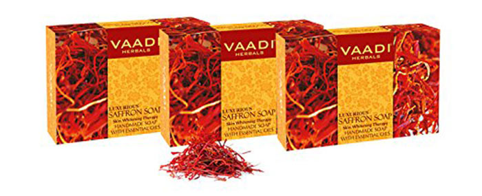 Vaadi Herbals Luxurious Saffron Soap Skin Whitening Therapy