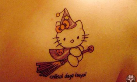 Witch Kitty Tattoo