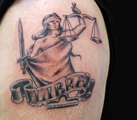 Zodiac Sign Scroll Tattoo
