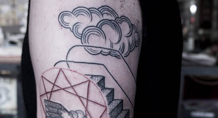 abstract cloud tattoo