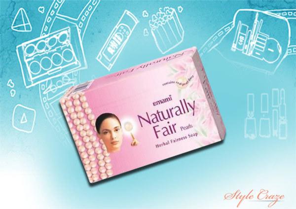 emami naturally fair pearls herbal fairness soap