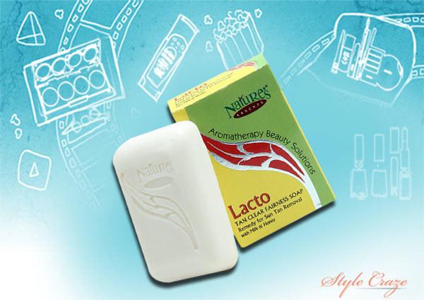 natures essence lacto tan clear fairness soap