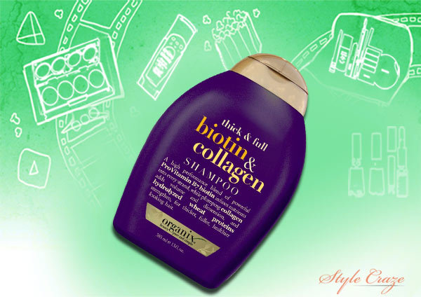 organix thick and full biotin and collagen shampoo