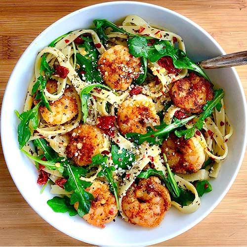 10. Spicy Shrimp Fettuccine