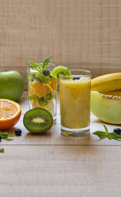 Weight Loss Smoothie - Kiwi, Apricot, And Muskmelon Smoothie