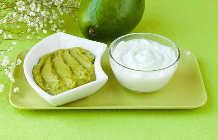 15. Avocado And Curd Hair Spa Treatment For Damaged Hair