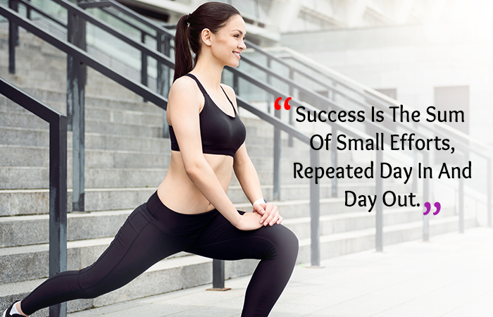Motivational Quotes for Weight Loss - Success Is The Sum Of Small Efforts, Repeated Day In And Day Out