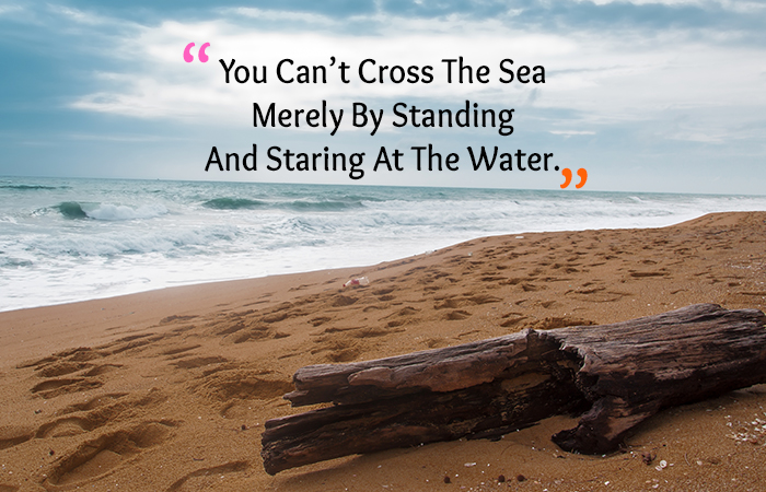 Motivational Quotes for Weight Loss - You Can't Cross The Sea Merely By Standing And Staring At The Water