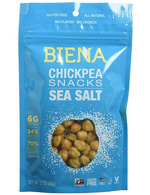 25. Biena All Natural Roasted Chickpeas
