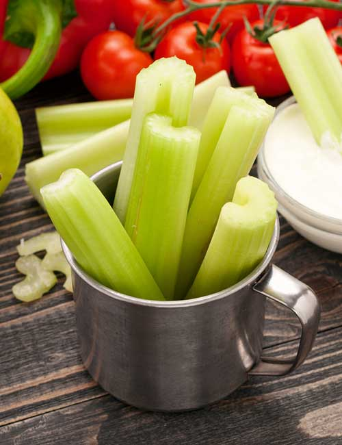 27. Celery Stalk With Sour Cream