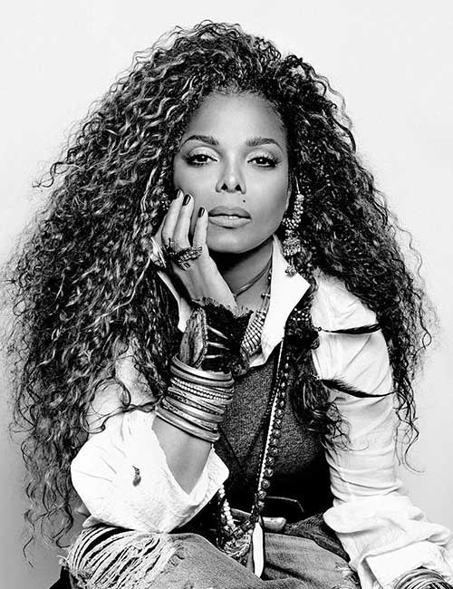 beautiful black female celebrities - 35. Janet Jackson