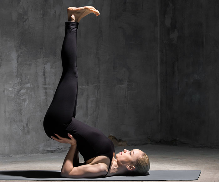 Viparita Karani - yoga pose that will help fight insomnia