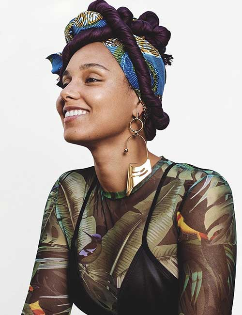 Most Beautiful Black Female Celebrities - 6. Alicia Keys