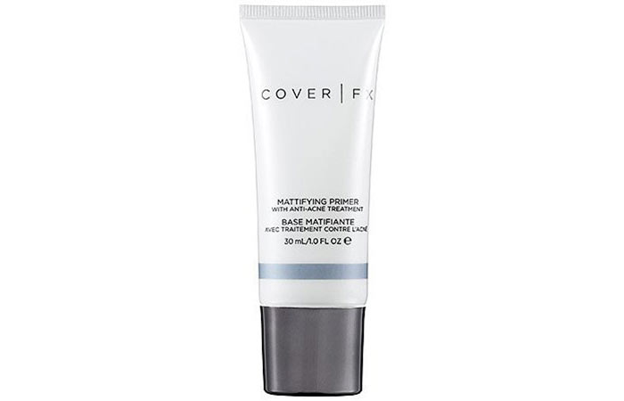 8. Cover FX Mattifying Primer With Anti-Acne Treatment