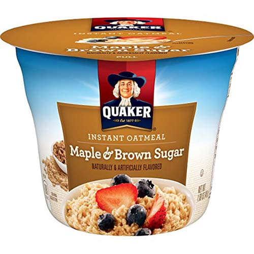 8. Quaker Instant Oatmeal Express Cups