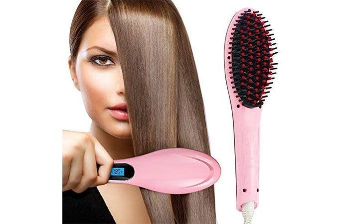 ASPERIA Hair Electric Comb Brush 3-In-1 Ceramic Fast Hair Straightener