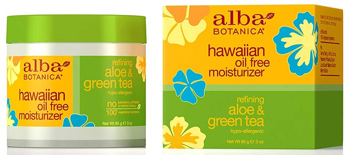 Alba Botanica Aloe And Green Tea Moisturizer - Water-Based Moisturizers For Oily Skin