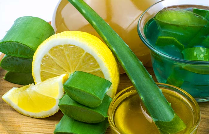 Aloe Vera And Lemon Juice