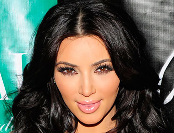 Celebrity Makeup Mistakes - 2. Kim Kardashian with Clumpy Eyelashes