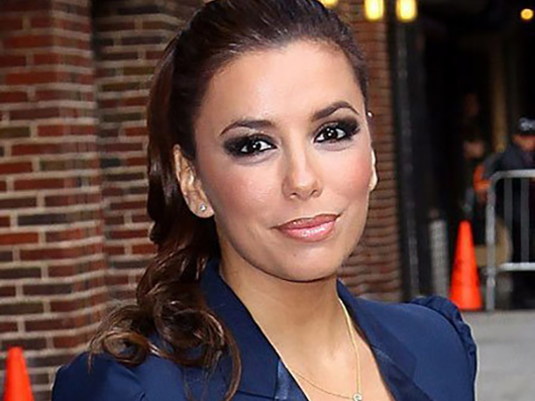 Celebrity Makeup Mistakes - 5. Eva Longoria with Too Much Eyeshadow
