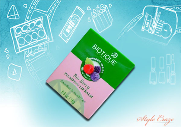 biotique bio berry plumping lip balm