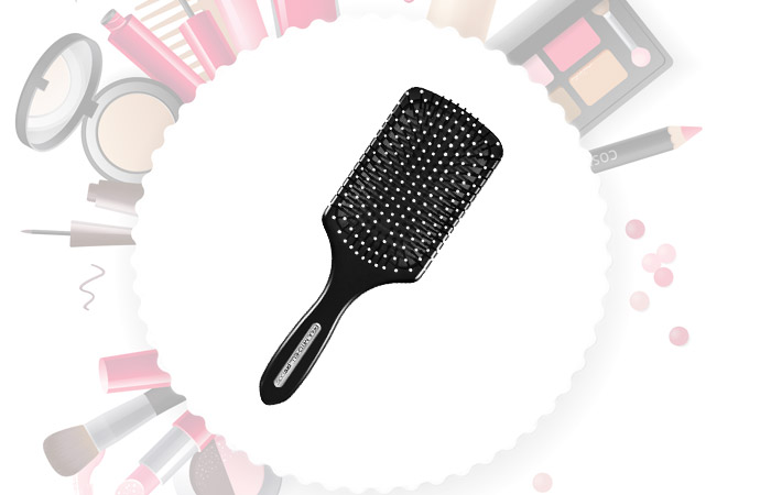 Black Large Paddle Brush