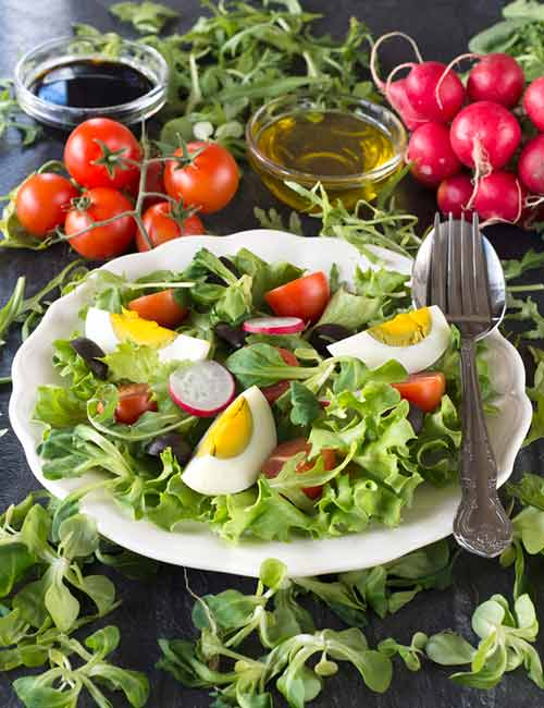 Boiled Egg Salad Lunch